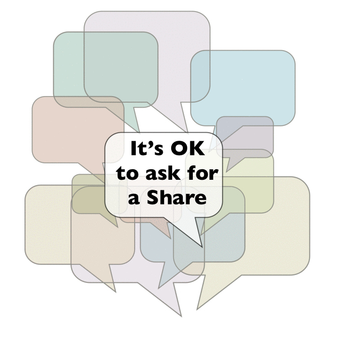 Asking for the Social Share