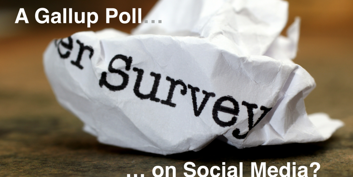 A Gallup Poll on social media? More than just a few flaws.