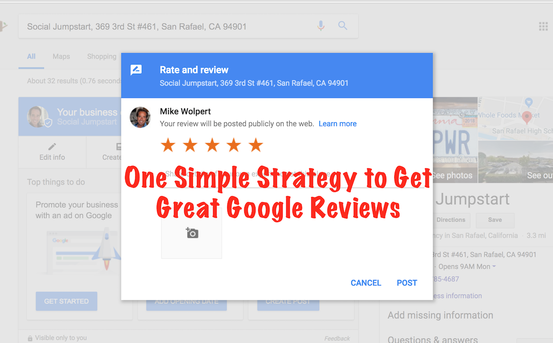 One Simple Strategy to Get Great Google Reviews